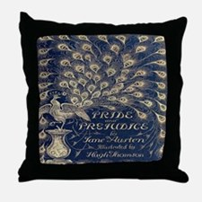 Pride and Prejudice, Peacock; Vintage Art Throw Pi