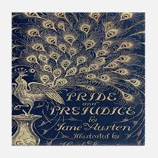 Pride and Prejudice, Peacock; Vintage Art Tile Coa