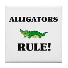 Alligators Rule! Tile Coaster