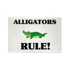 Alligators Rule! Rectangle Magnet