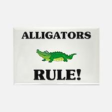 Alligators Rule! Rectangle Magnet