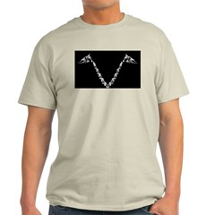 V-neck Bone Ash Grey T-Shirt