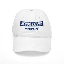 Jesus Loves Charlize Baseball Cap