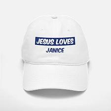 Jesus Loves Janice Baseball Baseball Cap