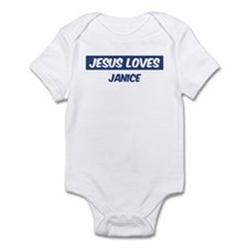 Jesus Loves Janice Infant Bodysuit
