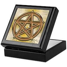 Gold and Copper Pentagram Keepsake Box