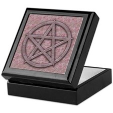 Feminine Pink and Lilac Pentagram Keepsake Box