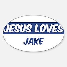 Jesus Loves Jake Oval Decal