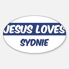 Jesus Loves Sydnie Oval Decal