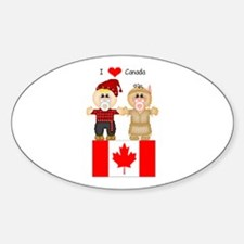 I Love Canada Oval Decal
