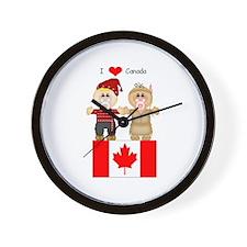 I Love Canada Wall Clock
