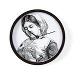 Victorian Little Girl Hand Se Wall Clock