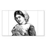 Victorian Little Girl Hand Se Rectangle Sticker 1