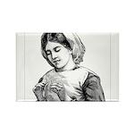 Victorian Little Girl Hand Se Rectangle Magnet (10