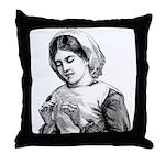 Victorian Little Girl Hand Se Throw Pillow