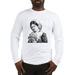 Victorian Little Girl Hand Se Long Sleeve T-Shirt
