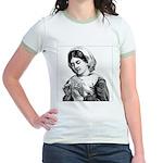 Victorian Little Girl Hand Se Jr. Ringer T-Shirt