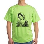 Victorian Little Girl Hand Se Green T-Shirt
