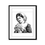 Victorian Little Girl Hand Se Framed Panel Print