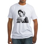 Victorian Little Girl Hand Se Fitted T-Shirt