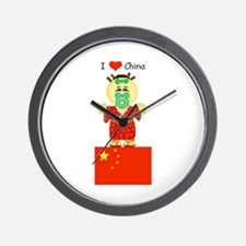 I Love China Wall Clock