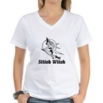 Stitch Witch Women's V-Neck T-Shirt