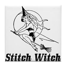 Stitch Witch Tile Coaster