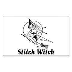 Stitch Witch Rectangle Sticker 10 pk)