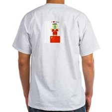 I Love China Ash Grey T-Shirt