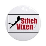 Stitch Vixen Ornament (Round)