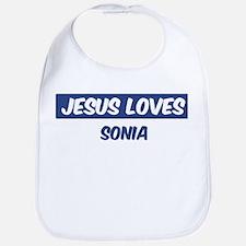 Jesus Loves Sonia Bib