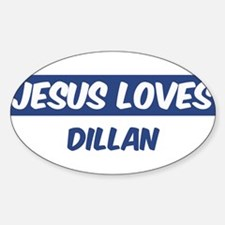 Jesus Loves Dillan Oval Decal