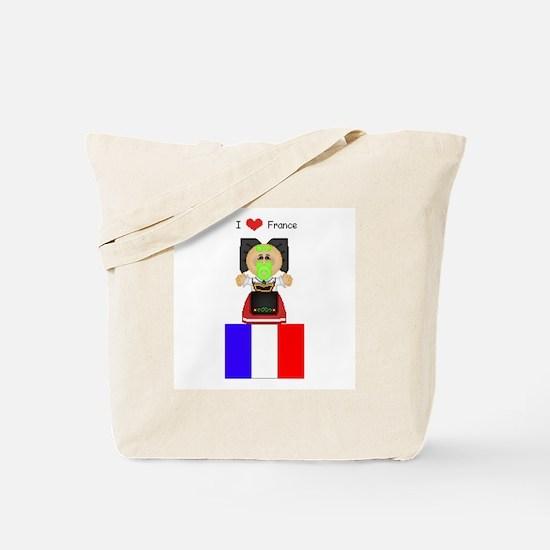 I Love France Tote Bag