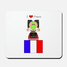 I Love France Mousepad