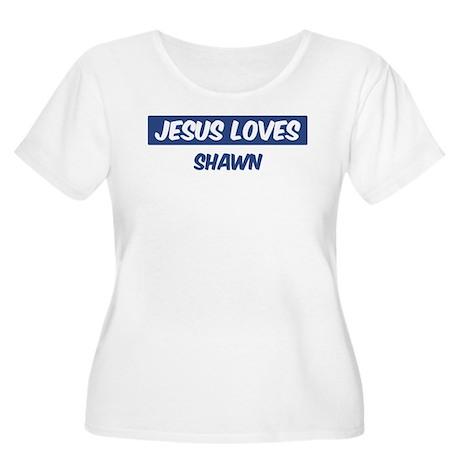 Jesus Loves Shawn Women's Plus Size Scoop Neck T-S