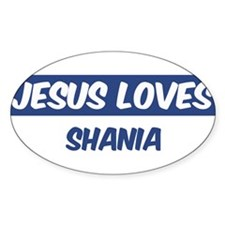 Jesus Loves Shania Oval Decal