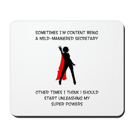 Superheroine Secretary Mousepad