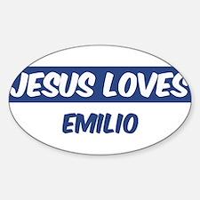Jesus Loves Emilio Oval Decal