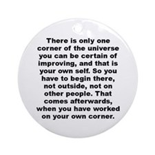 There is only one corner of the universe you can.. Ornament (Round)