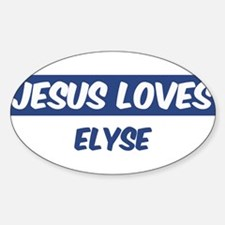 Jesus Loves Elyse Oval Decal