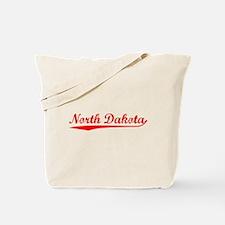 Vintage North Dakota (Red) Tote Bag