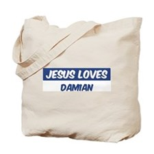 Jesus Loves Damian Tote Bag