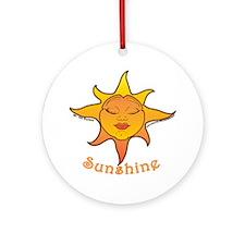 Cute Smiling Sun Ornament (Round)