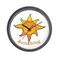 Cute Smiling Sun Wall Clock