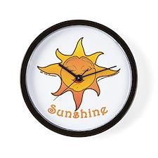 Cute Smiling Sun Wall Clock