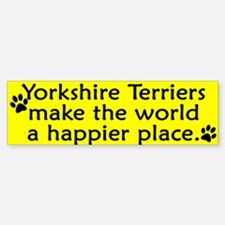 Happy Place Yorkie Bumper Bumper Bumper Sticker
