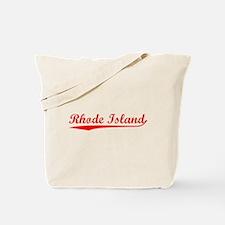 Vintage Rhode Island (Red) Tote Bag