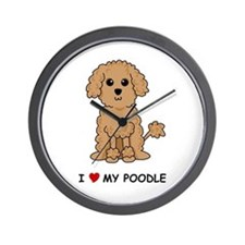 Apricot Poodle Wall Clock