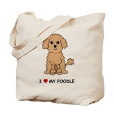 Apricot Poodle Tote Bag