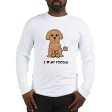 Apricot Poodle Long Sleeve T-Shirt